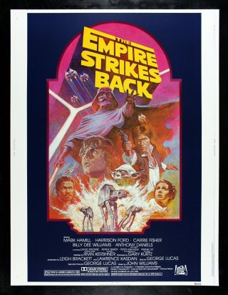 Empire Strikes Back ✯ Cinemasterpieces Star Wars Movie Poster 1982r