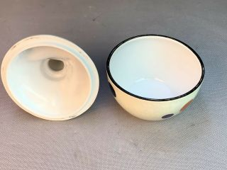 NORITAKE Japan ART DECO LUSTER PORCELAIN CLOWN Bowl & Cover Box 7