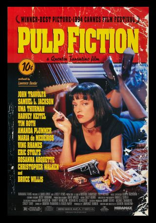 Pulp Fiction ✯ Cinemasterpieces Movie Poster 1994 Nm -