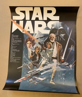 Star Wars Poster Ultra - Rare American Marketing Association,  1977
