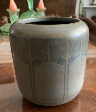 Marblehead Pottery Arts and Crafts Three Color Decorated Vase 2