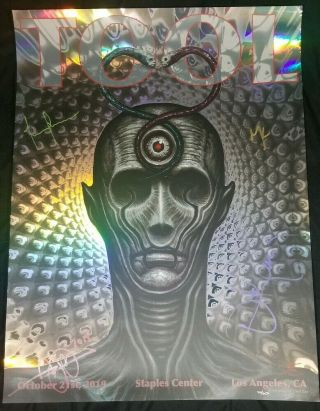 Tool Signed/autographed Poster 10/21/19 La Staples Center - Artwork By Chet Zar