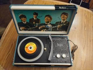 'the Beatles Record Player' U.  S 1964 Model 1000 4 Speed Phonograph W/ Serial Tag