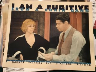 "I Am A Fugitive From A Chain Gang 1933 Warner Brothers 11x14 "" Lobby Paul Muni"