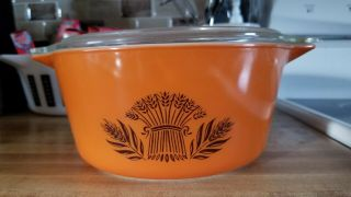 PROTOTYPE PYREX PATTERN SUNSET WHEAT RARE HTF SAMPLE TEST PROMOTIONAL 2