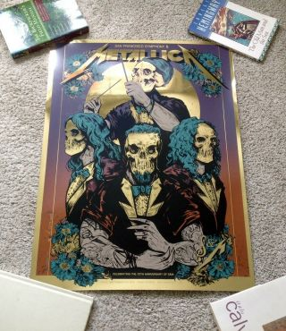 Metallica S&m2 Night One Foil Ap Poster Chase Center San Francisco Symphony 9/6