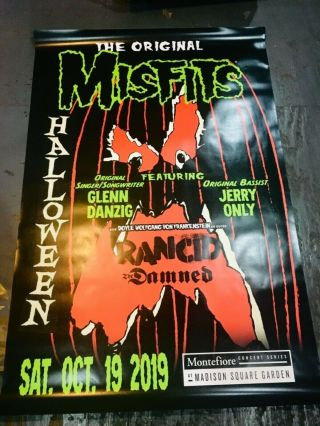 Misfits Promo Poster For Msg Nyc 4 Foot By 6 Foot Huge Rare Last Show