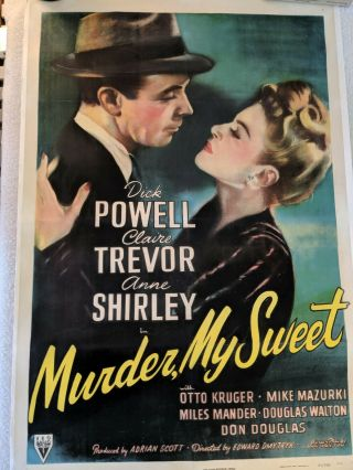 Murder My Sweet One Sheet 1944 Movie Poster
