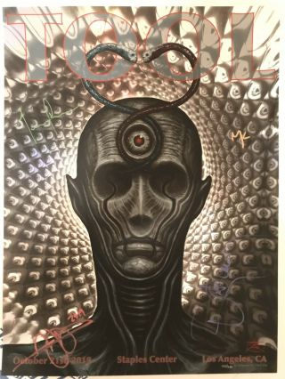 Tool Poster — Signed By Band — 10/21/2019 Los Angeles Very Limited