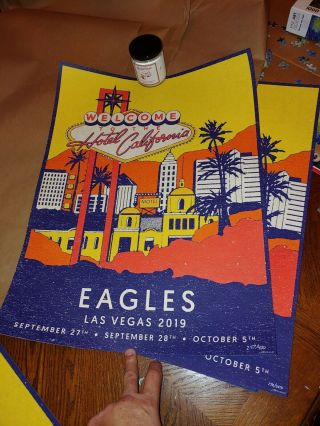 The Eagles Las Vegas 2019 (2) Event Posters 172/350 & 257/400 Hotel California