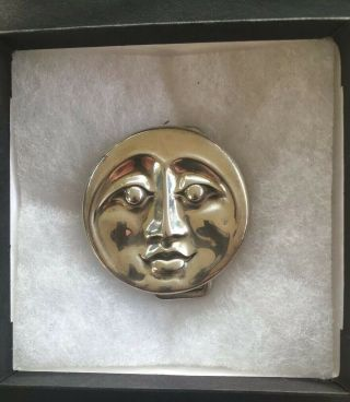 Owsley Stanley Small Silver Moon Belt Buckle Grateful Dead