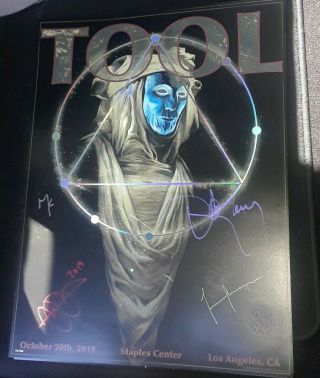 La Tool Staples Center 10/20 2019 Limited Edition Dull Band Signed Poster Print