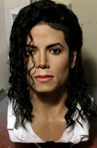 1/1 Lifesize Custom Michael Jackson Bust Black Or White Dangerous Era