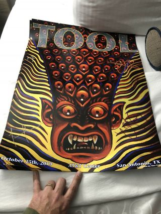 Tool San Antonio Authentic Autographed Concert Poster