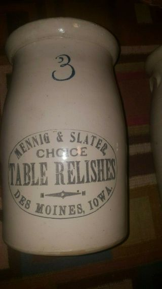 Red Wing Stoneware Advertising Crock Menning And Slatter Des Moines Iowa