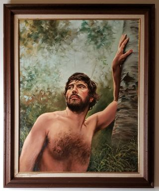 Oil Portrait Of Sir Alan Bates In Women In Love (1969) By Anthony De Frange 1977