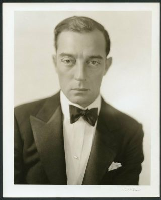 Buster Keaton Vintage 1930s George Hurrell Stamp Mgm Portrait Dwt Photo