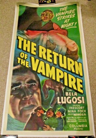 "The Return Of The Vampire 1943 -.  Three Sheet (41 "" X 81 "")"