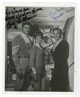 Lost In Space Cast Autographed 8x10 With Guy Williams,  Lockhart & Harris