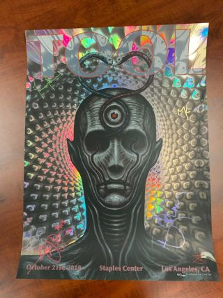 La Tool Concert Poster Signed By The Band Staples Center 10/21 2019 Chet Zar