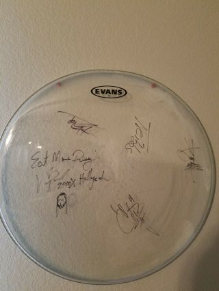 Autograpgh Drum From Band Hellyeah