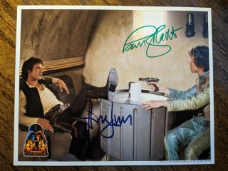 Harrison Ford Signed Star Wars 8x10 Paul Blake Coolwaters