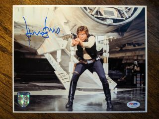Harrison Ford Signed Star Wars 8x10 Official Pix Psa/dna Opx Han Solo