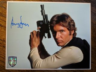 Harrison Ford Signed Star Wars 8x10 Official Pix Bas Opx Han Solo
