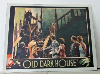 1932 The Old Dark House Universal Or Other Co Lobby Card Karloff & Hand On Rail