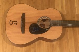 Garth Brooks Signed Autographed Natural Acoustic Guitar W/,