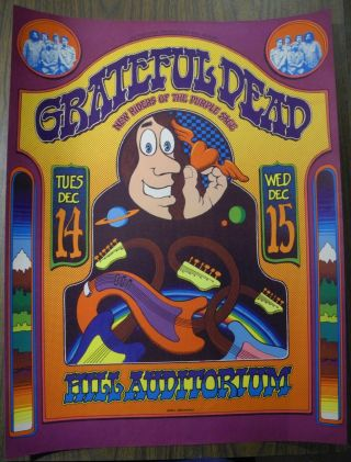 Grateful Dead Hill Auditorium 1971 Grimshaw Nm Poster