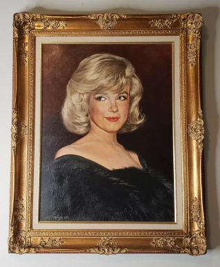 Oil Portrait Of Marilyn Monroe At The Misfits Premiere Anthony De Frange 1972