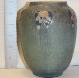 Newcomb College Pottery Vase Matte Blue Green Rare Joseph Fortune Meyer Piece