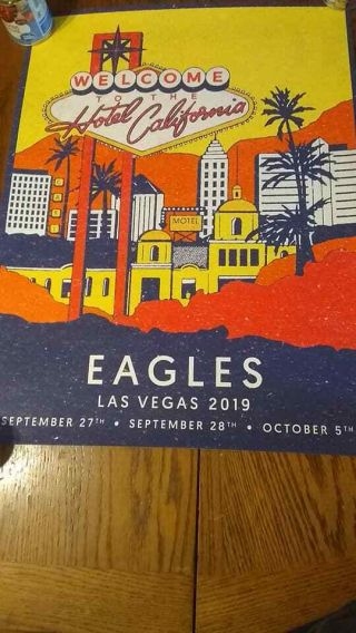 The Eagles Las Vegas 2019 Concert Poster 141/350 Hotel California Mgm