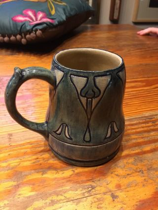 Newcomb College Pottery 1902 Decorated Mug Marie De Hoa Le Blanc Joseph Meyer