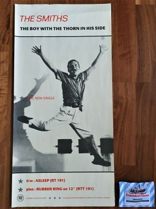 Smiths Boy With The Thorn In His Side Rare Promo Poster Morrissey 1985