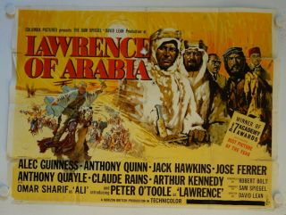 Lawrence Of Arabia Release British Quad Movie Poster