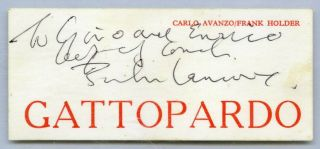 1964 John Lennon Signed Business Card Caiazzo Cox