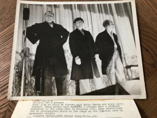 Three Stooges Vintage Photo With Detailed Photographers Information
