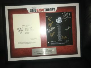 The Big Bang Theory: Framed And Autographed Script Pages By Cast And Crew