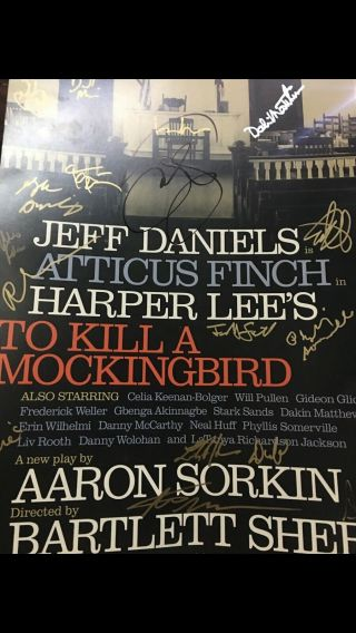 To Kill A Mockingbird Cast Signed Broadway Poster Window Card