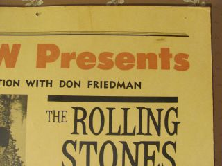 Rolling Stones 1966 Concert Poster Buffalo NY 14x22 VERY RARE 3