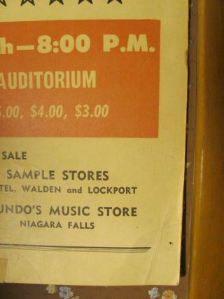 Rolling Stones 1966 Concert Poster Buffalo NY 14x22 VERY RARE 5