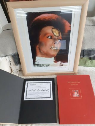 David Bowie Blood And Glitter Book And Limited Edition Print 79/100 Autographed