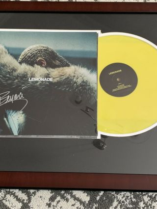 Beyonce Lemonade Lp Framed & Personally Autographed By Beyonce - Authenticated
