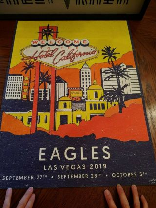 The Eagles Las Vegas 2019 Event Poster 184/350 Hotel California Mgm