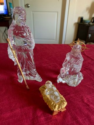 Waterford Crystal Full Christmas Nativity Set Includes Millennium Nativity