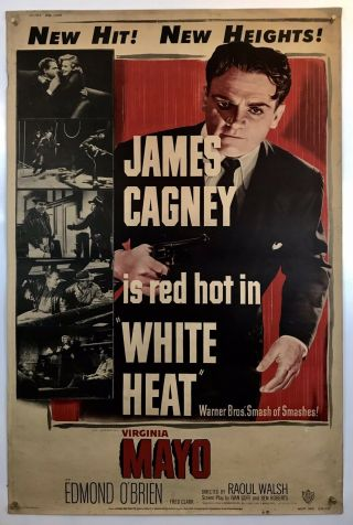 White Heat Movie Poster (good) 40x60 1949 James Cagney Virginia Mayo 051