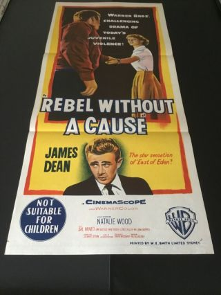 Rebel Without A Cause Australian Daybill 11x14 In Near.