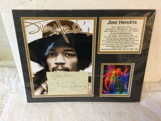 Jimi Hendrix Hand Signed Autograph Signature With Stay Inscription